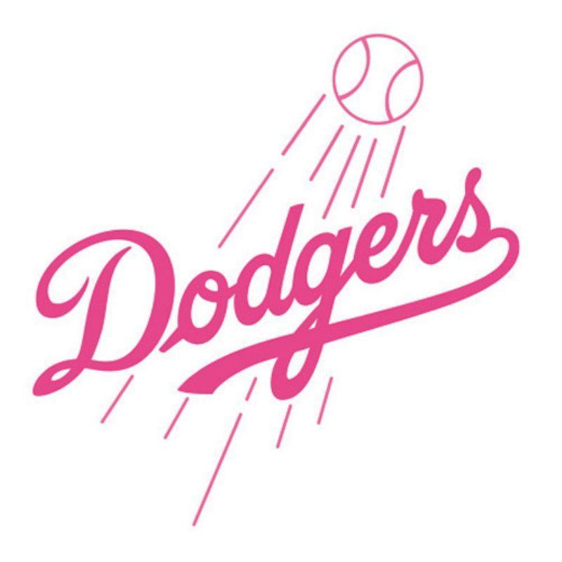 Download Fathead MLB Team Pink Logo Wall Decal - 63-633   Dodgers ...