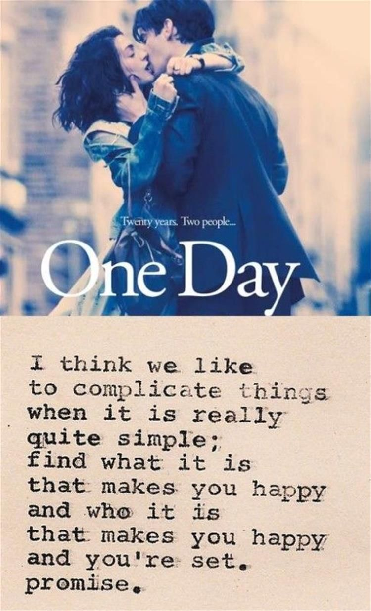Quotes 17 Movie Quotes One Day Quotes Words