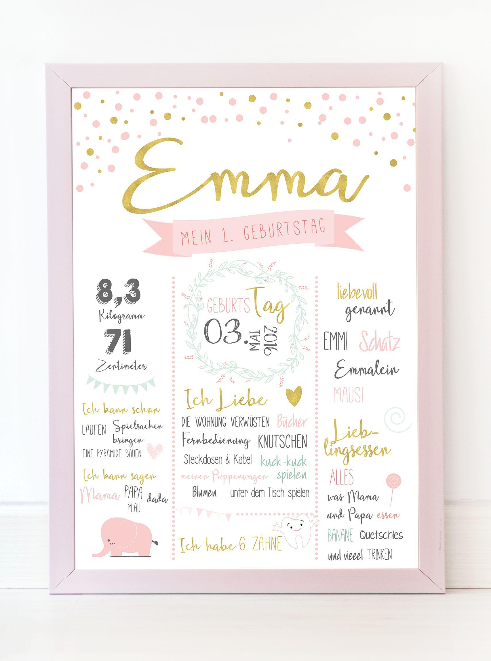 Meilensteintafel \'EMMA\' | Babies, Diy baby and Crafts