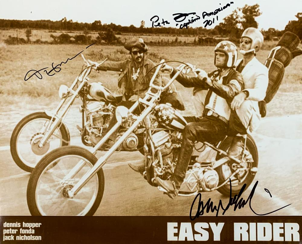 Easy Rider Cast Signed Vintage Lobby Card Photo Easy Rider
