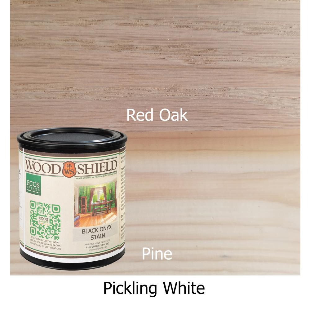 White Wash Pickling Stain On Pine: ECOS 1-qt. Pickling White WoodShield Interior Stain