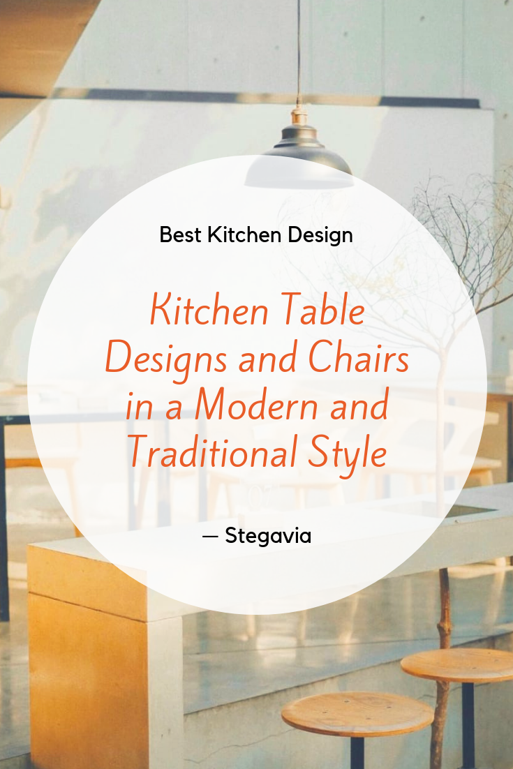 The best kitchen table and chair designs are modern and traditional because almost all the basic ingredients used are good quality wood