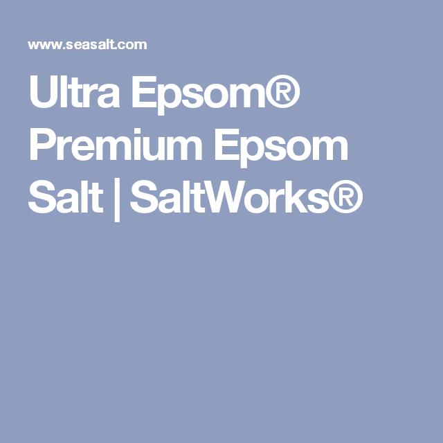 Ultra Epsom® Premium Epsom Salt | SaltWorks®