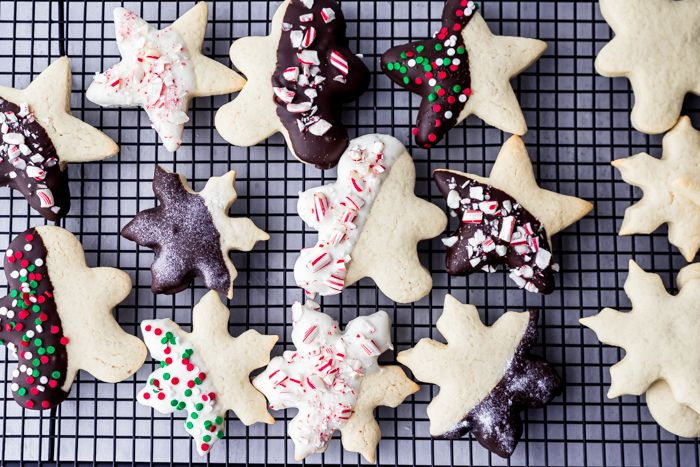 These are The Best Sugar Cookies and a Holiday favorite. Soft on the inside with a little crunch on the outside, no chilling required. Just roll, cut, and bake to pure enjoyment. #thefoodcafe #sugarcookies #nochillsugarcookies #simplesugarcookies #cookieexchange #cookierecipe #holidaycookies