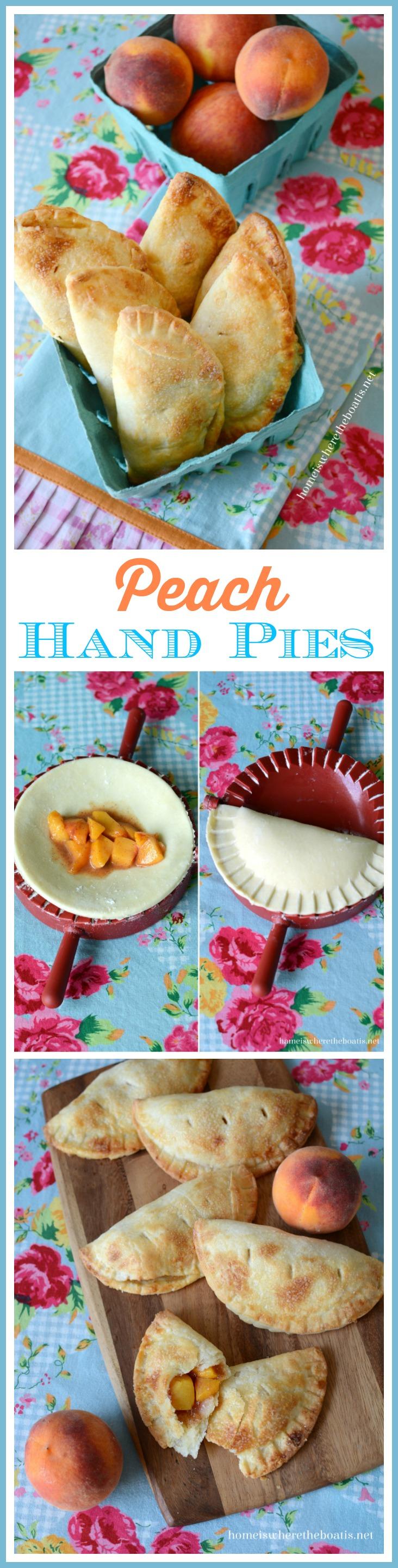 Peach Hand Pies with Cream Cheese Pastry Crust   homeiswheretheboatis.net #summer #dessert