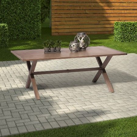 Threshold Holden Metal Rectangular Patio Dining Table 399