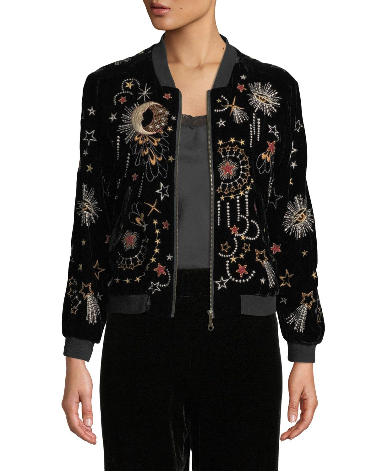 9be1a91f20c Johnny Was Clothing at Neiman Marcus | Style in 2019 | Velvet bomber ...