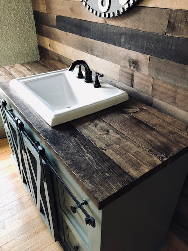 Barn Door Bathroom Vanity Free Shipping Etsy In 2021 Barn Door Bathroom Bathroom Vanity Vanity [ 1059 x 794 Pixel ]