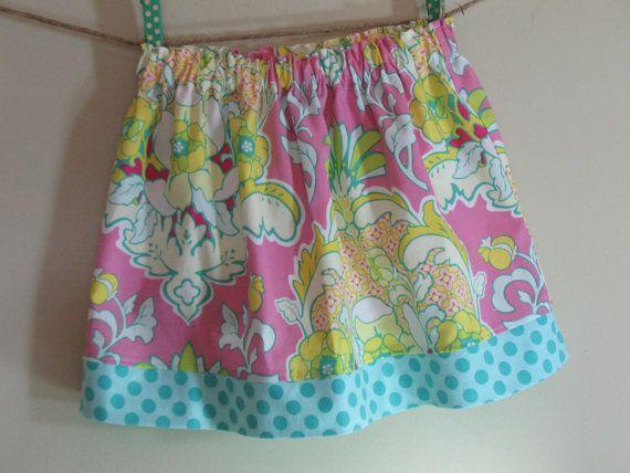 Girls Skirt Twirl Skirt Modern Floral Damask by SouthernSeamsKids