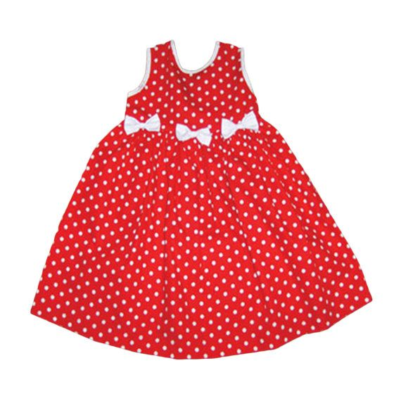 4855ab178d5 Girl dress Easter dress Red and white sundress by miraclothing ...