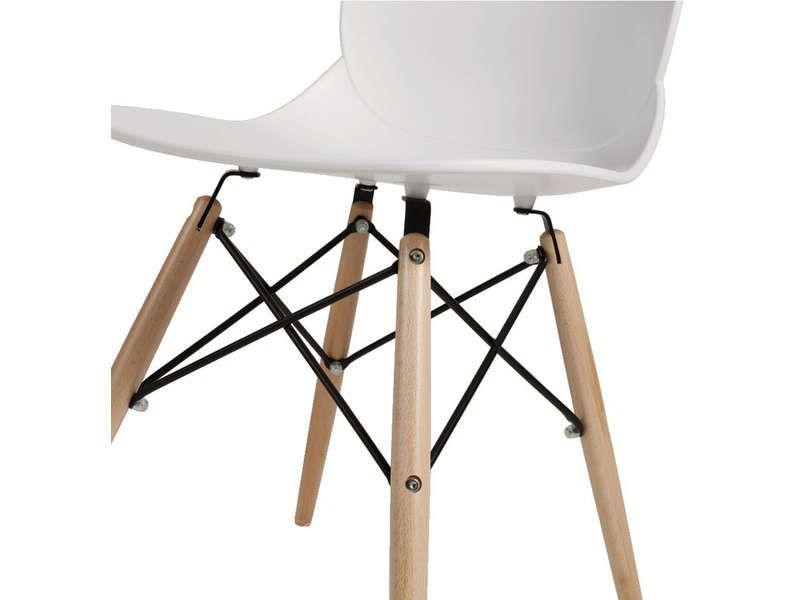 chaise orca coloris blanc - vente de chaise de cuisine - conforama
