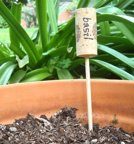 Lots of upcycled garden marker ideas.