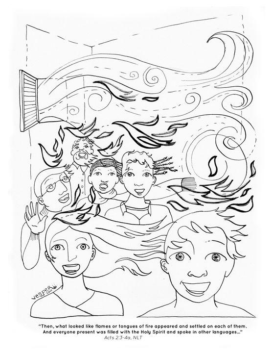 learning about #Pentecost   kool kids   Pinterest   Illustrations ...