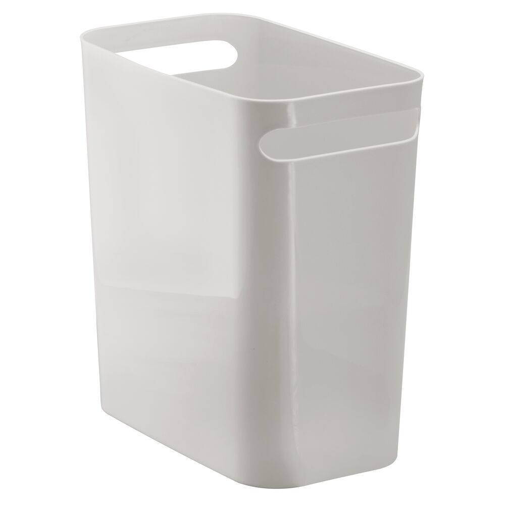 Mdesign Small Plastic Slim Trash Can Garbage Bin 12 High Light