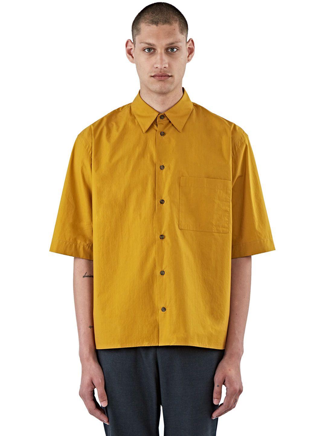Mustard yellow dress shirts for men
