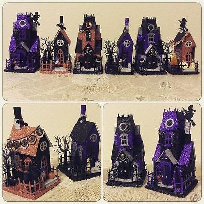 Sizzix Tim Holtz Halloween Village Die Cut KIT Index Stock | eBay