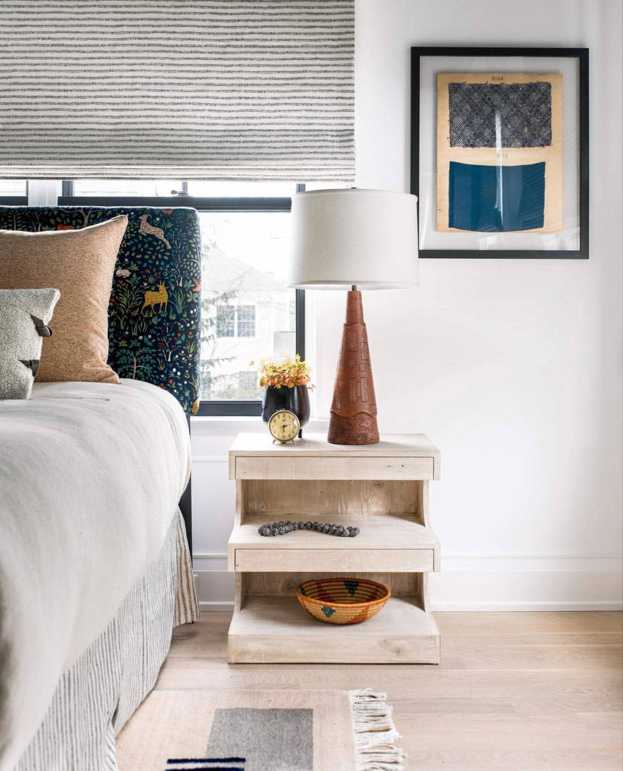 16 Bedroom Decorating Ideas With Exotic African Flavor: Cortney Bishop Design Bedroom Tiered Night Side Tables