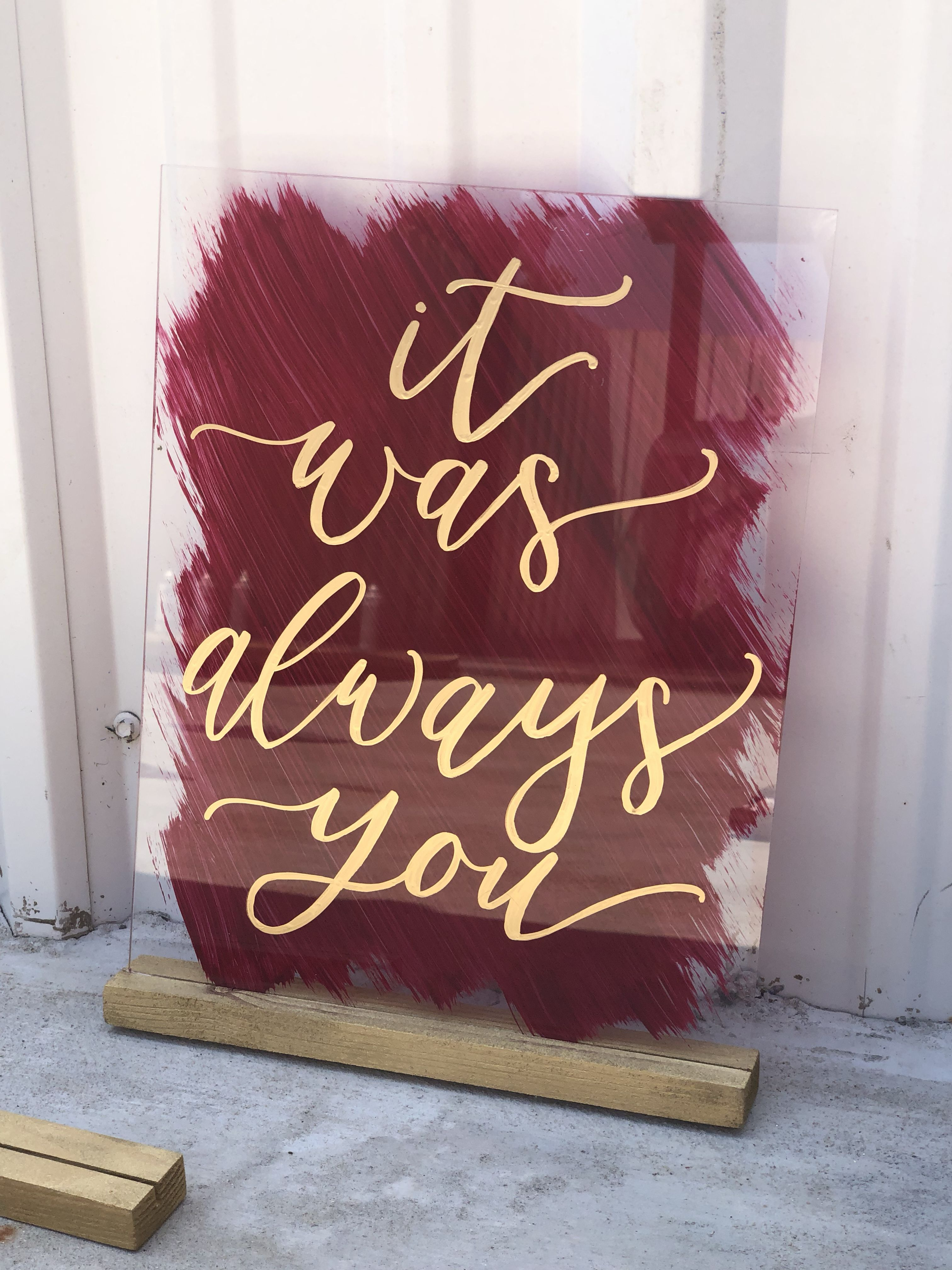 Customizable Cards and gifts Painted acrylic Hashtag