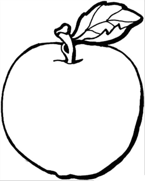 Apple Fruit Healthy Food Coloring Pages Coloring pages