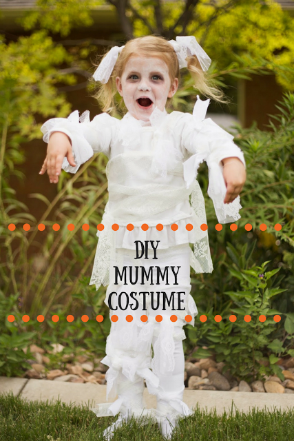Diy little girl lace mummy halloween costume halloween dress diy little girl lace mummy halloween costume solutioingenieria Gallery