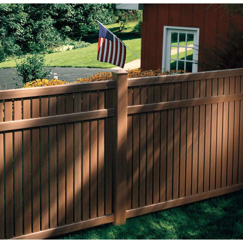 Bufftech Imperial Select Cedar Vinyl Fence Sections In 2020 Vinyl Fence Vinyl Fence Colors Fence Sections