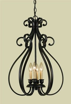 Large Foyer Entryway White Wrought Iron Chandelier Lighting 50