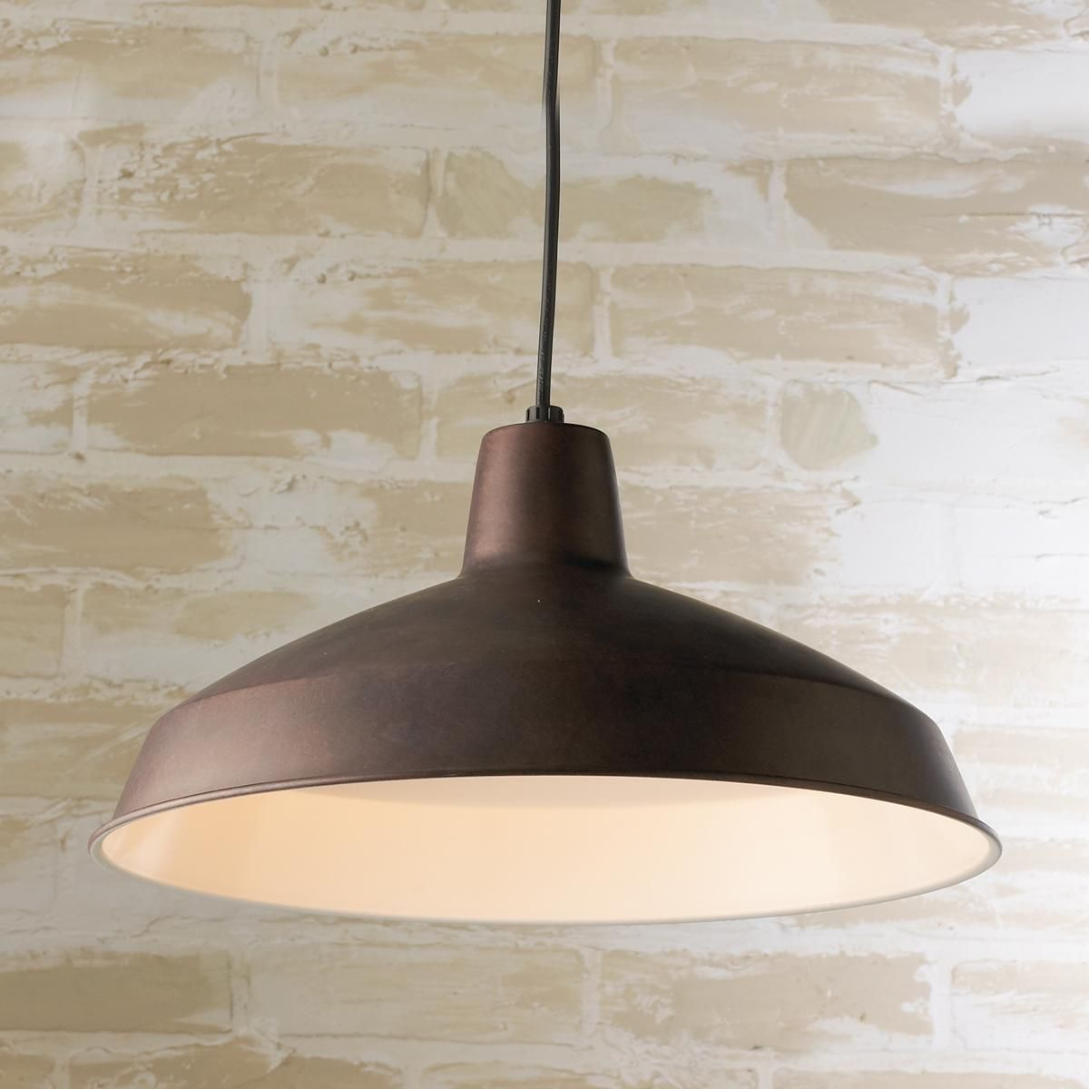 Loft Shade Pendant . three in a row over the island? weathered bronze is pretty....
