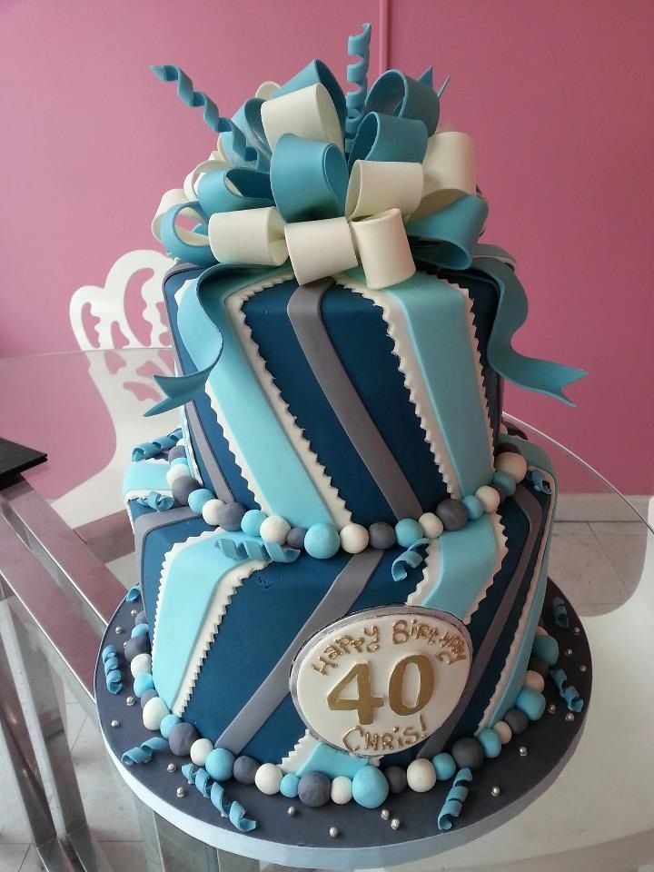 40 Years Old Birthday Cake Or Anniversary