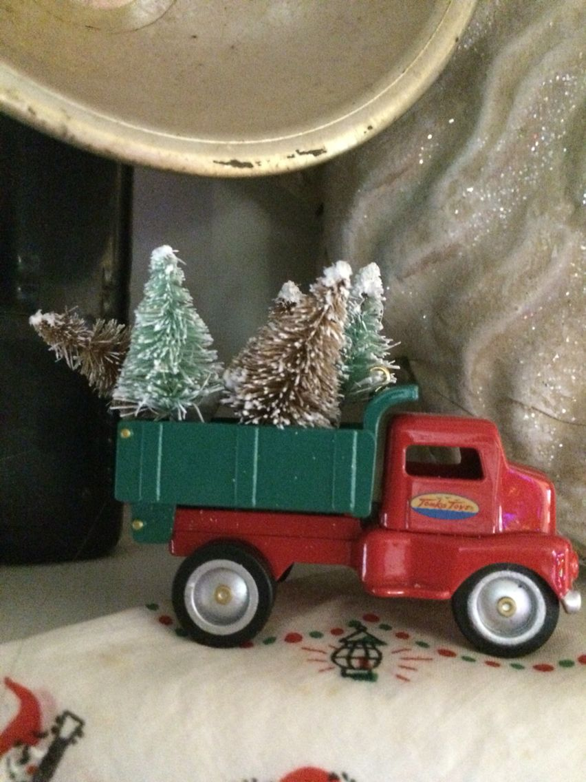 Tiny Truck Tiny Truck And Christmas Trees Vintage Trucks And Cars