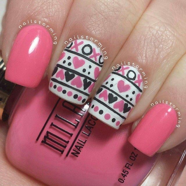 Easy Valentine\'s Day Nail Art Ideas | Pinterest | French nails, Nail ...