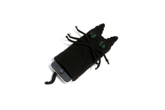 Cool Cat Crocheted iPhone Cover