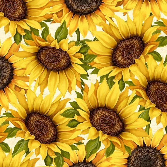 db91cda00dfe7 Gorgeous sunflowers spring to life in these new fabrics by Anne Rowan and  Wilmington Prints.