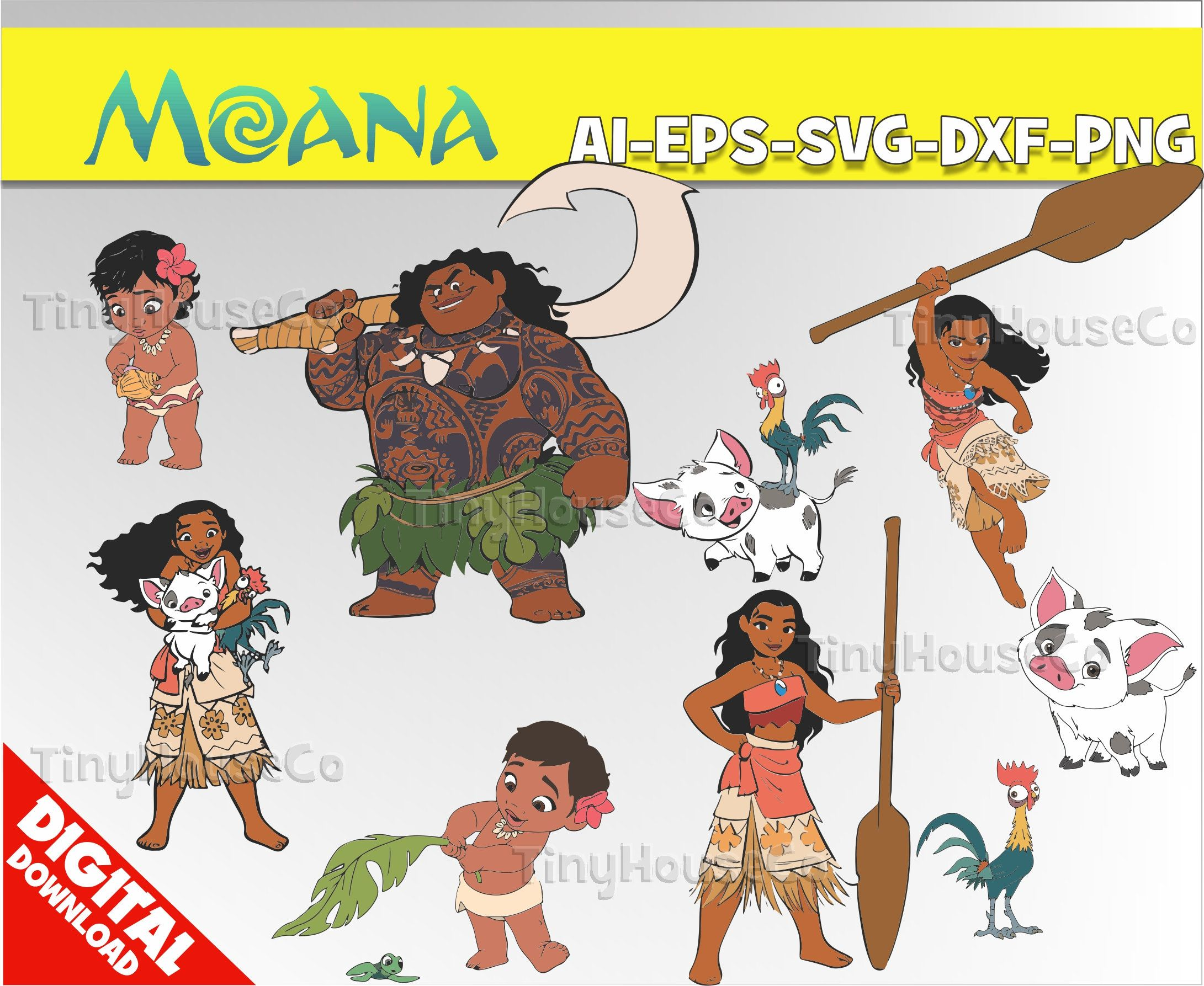 Moana Svg Moana Clipart Png Moana Party Moana Birthday Vector Printable Moana Digital Clipart Clip Art Https Etsy Me 2 Clip Art Digital Clip Art Print Decals