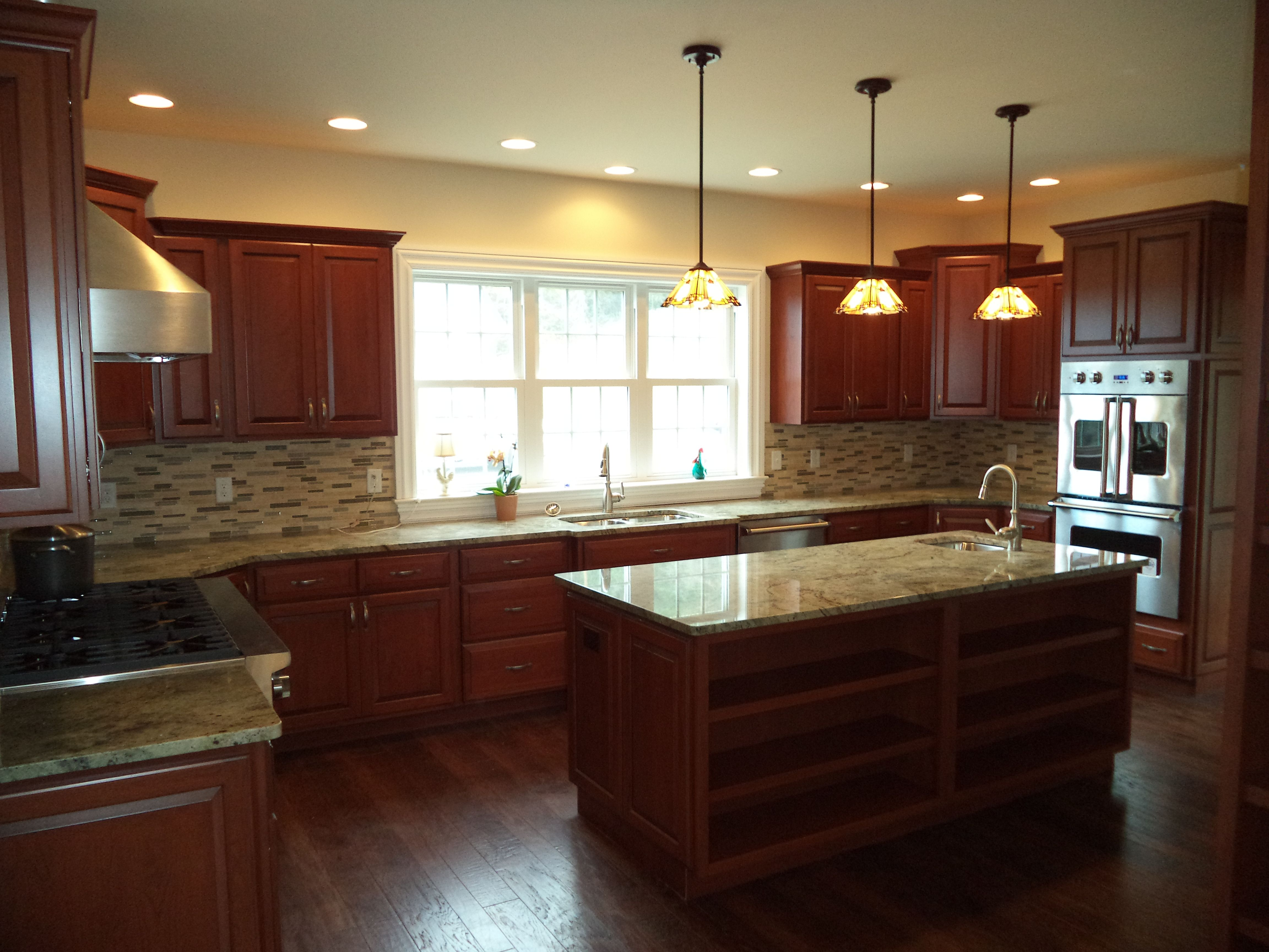 Morehart Kitchen Design With Cherry Wood Cabinets Glass Stone Amusing Cherrywood Kitchen Designs Decorating Inspiration