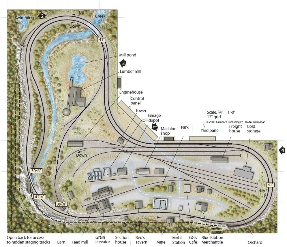 5x10 ho layout from track plan database for N scale bedroom layout