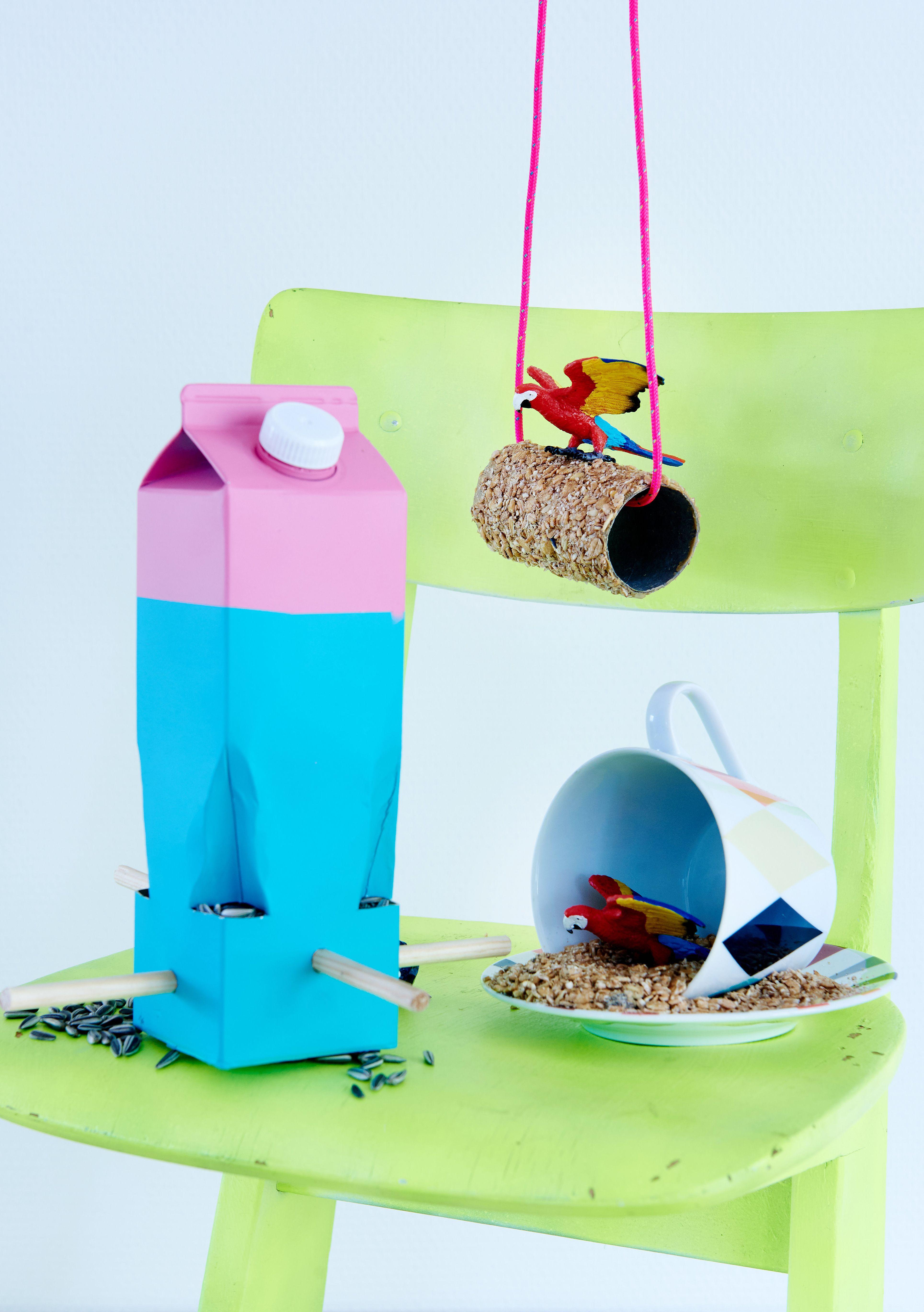 Futterstation aus Milchtüten - Kreative Hilfe für Vögel | Tierisch ...