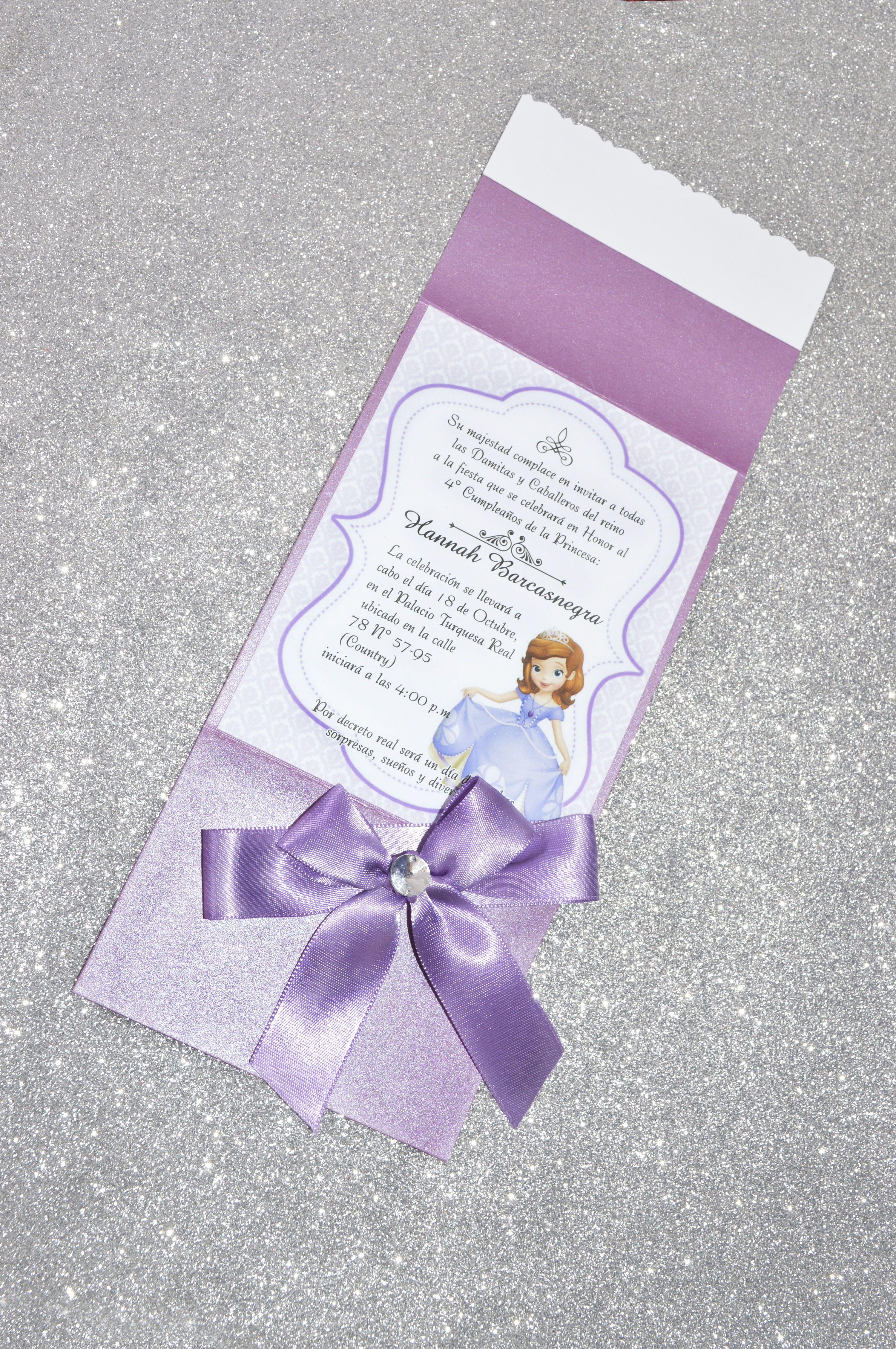 Tarjeta Infantil Princesa Sofia Cakes Princesa Sofía