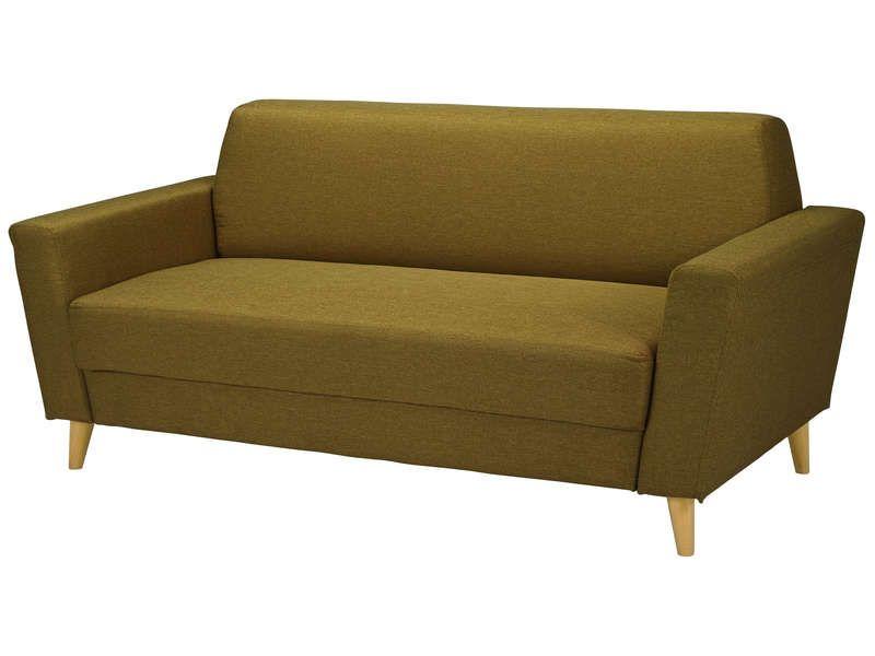 canap fixe 3 places ikonn coloris vert anis vente de canap droit conforama mobilier. Black Bedroom Furniture Sets. Home Design Ideas
