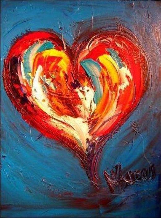 Modern Abstract Art Of Love