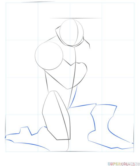 how to draw leonardo from ninja turtles | step by step
