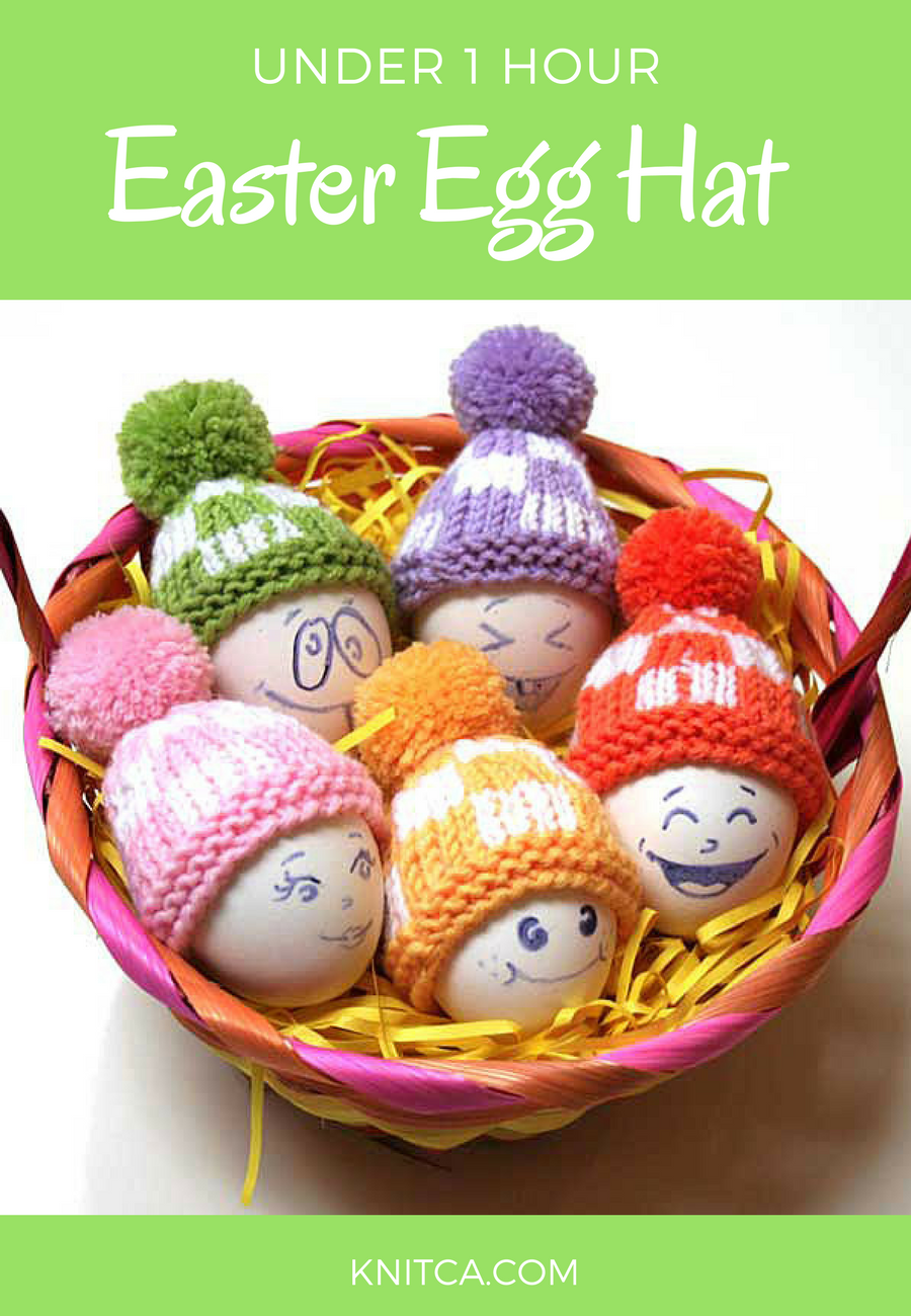 is beginner friendly Knit Easter egg hats pattern will make your ...