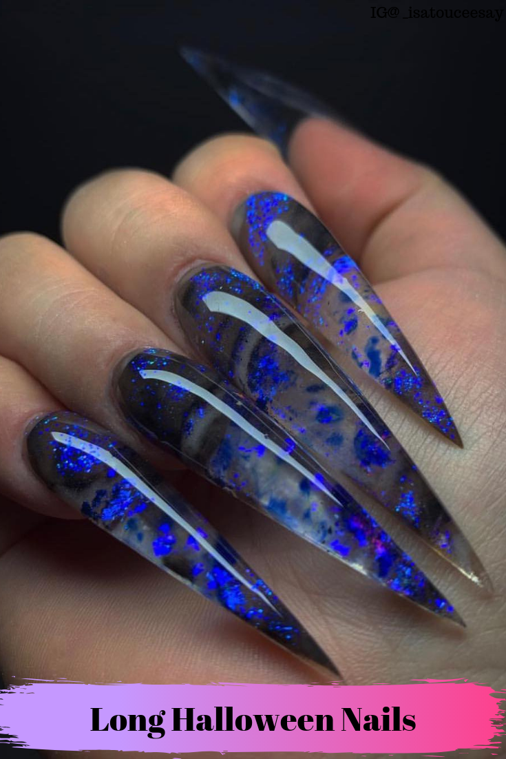 Creepy Long Halloween Nails Cute Acrylic Nails Long Acrylic Nails Vampire Nails