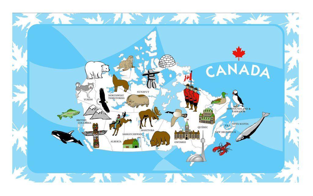 Map of Canada Tea Towel