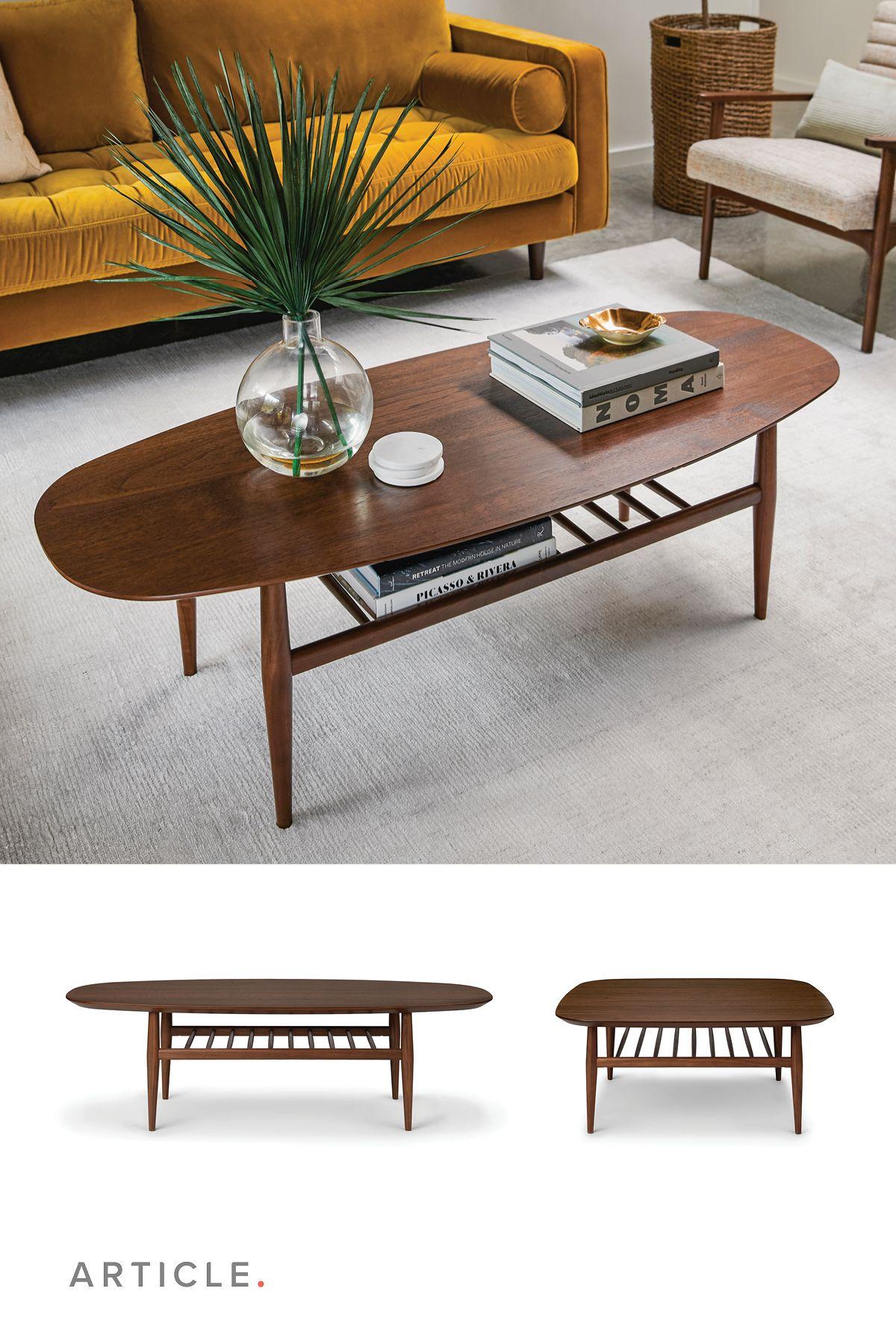 Lenia Walnut Oval Coffee Table Coffee Table Books Decor Coffee Table Coffee Table With Shelf [ 1800 x 1200 Pixel ]