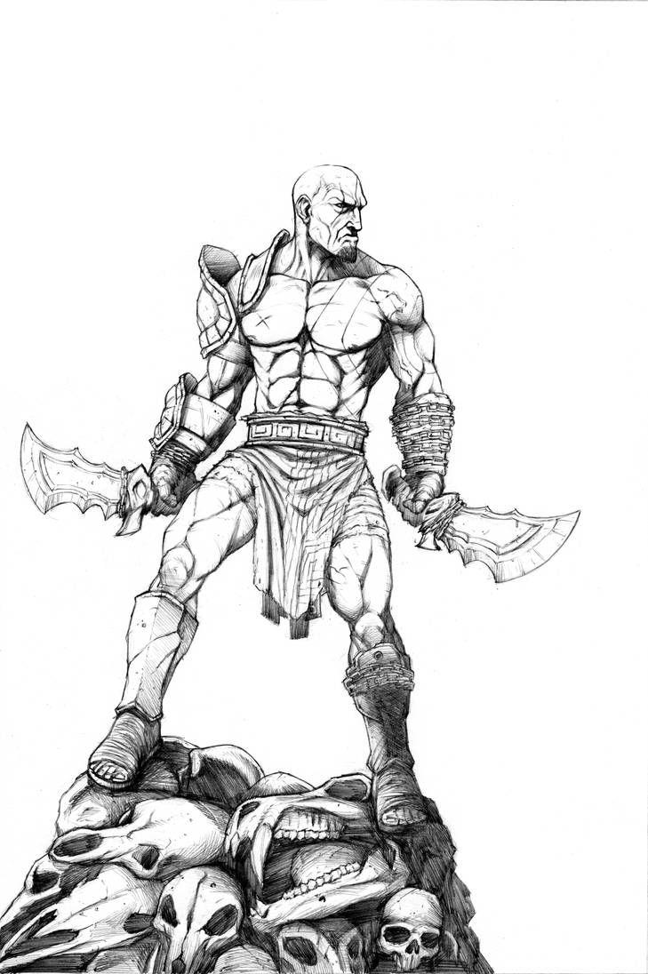 Kratos Pencils By Jzingerman God Of War War Art Character Sketch