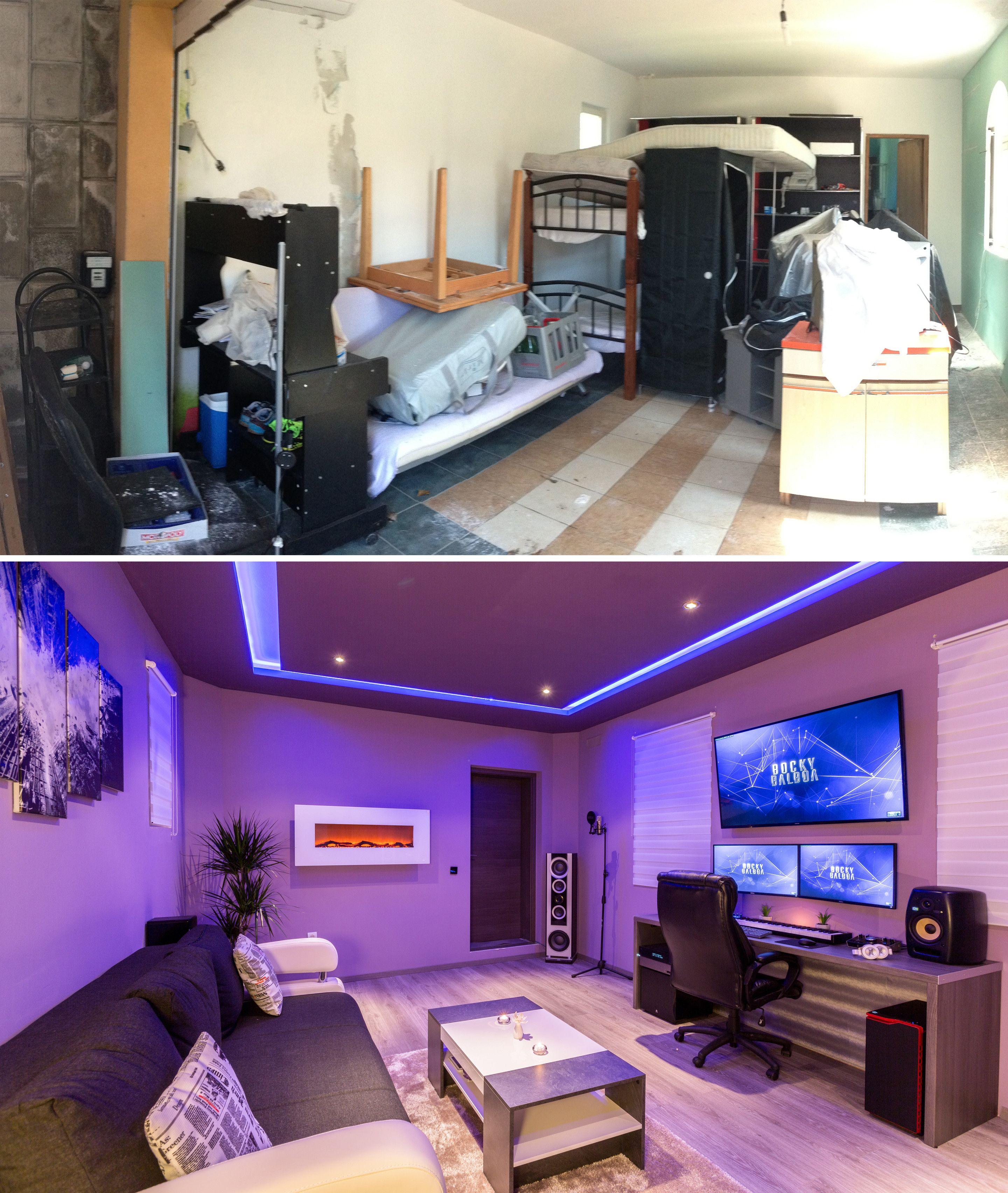 ve transformed unused garage into  music studio imgur also interiors rh sk pinterest