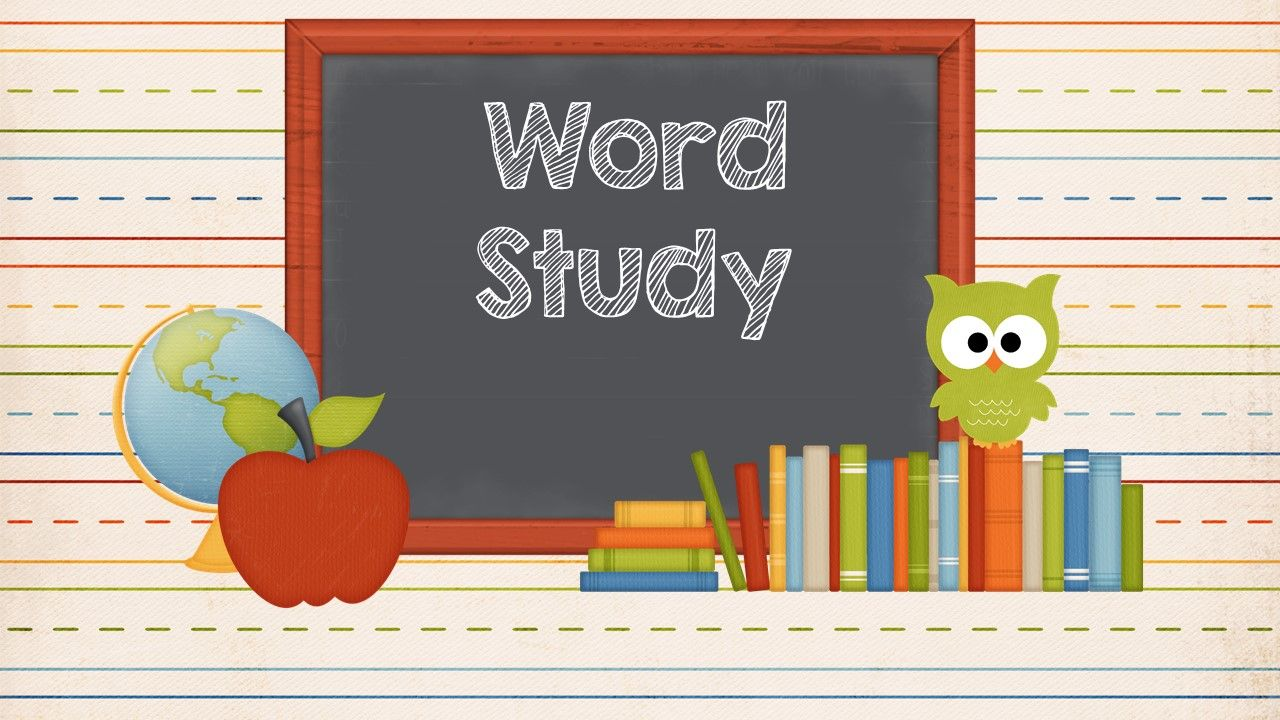 Word study ideas, activities and resources.