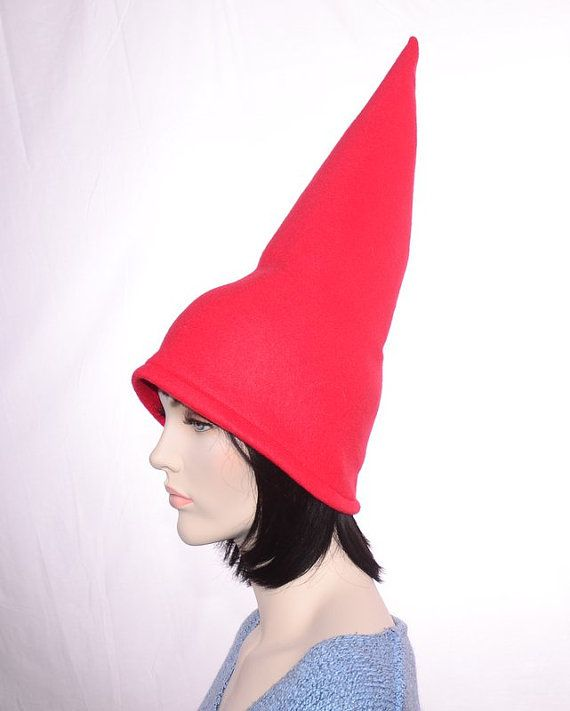 ab5130f0319 Red Gnome Hat Extra Tall Cap Fleece Men Women Tall Pointed Gnome ...