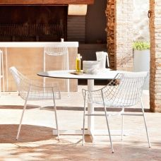 Varaschin Summer Set Gartentisch O 100 Cm Mit Hpl Oder Marmor