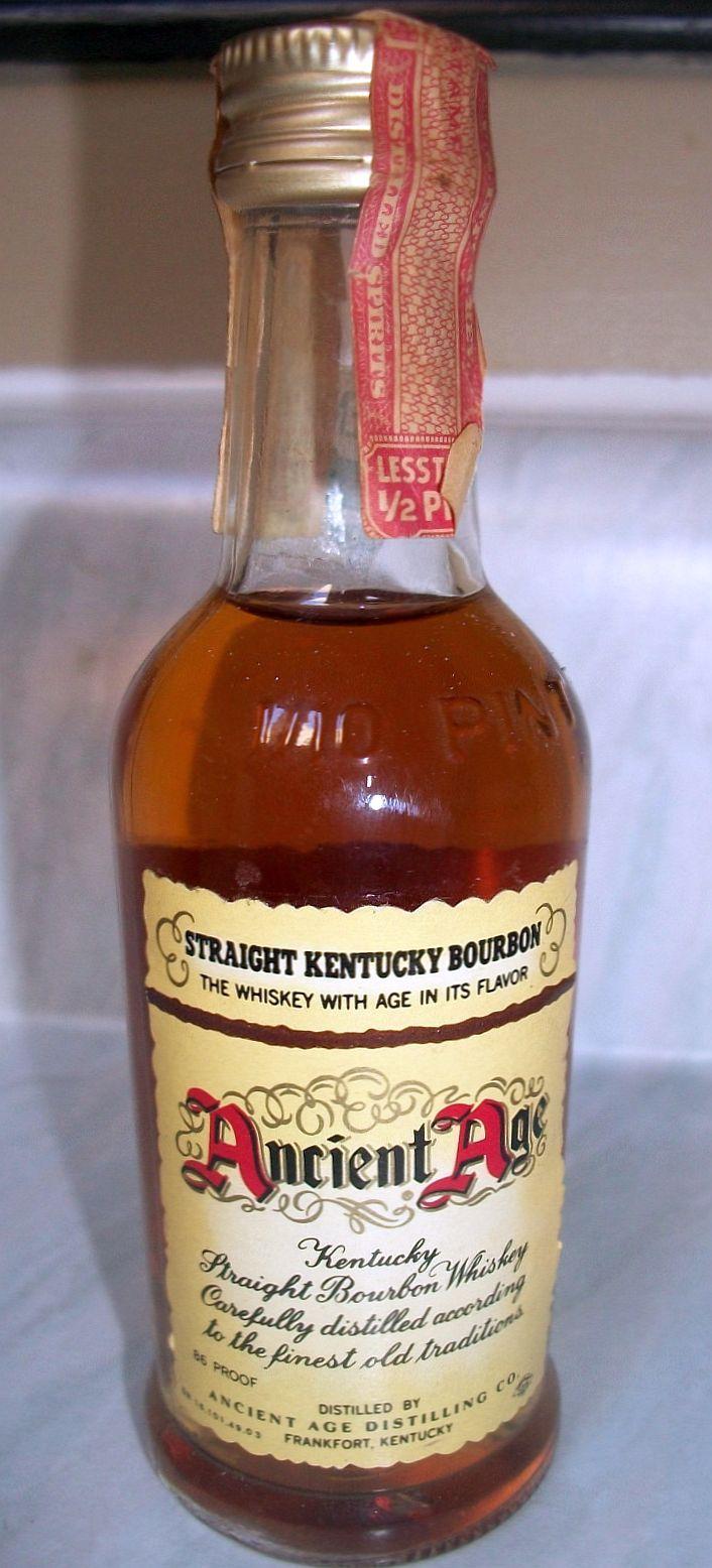 Ancient Age Whisky Miniature Liquor Bottle (Vintage ...